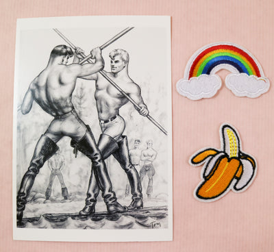 Tom of Finland mini print/card boots the house down