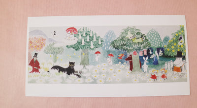 Moomin the magician's hat panoramic postcard