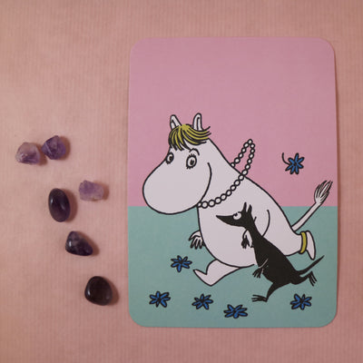 Moomin Snorkmaiden rushing postcard/mini print