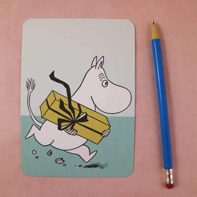 Moomin rushing postcard/mini print