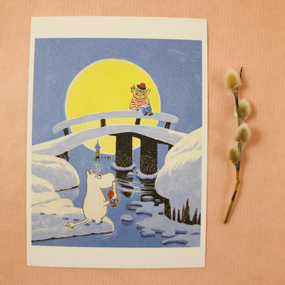 Moomin midwinter postcard/mini print