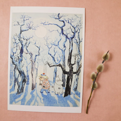 Moomin Too-ticky postcard/mini print