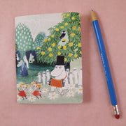 Moomin garden mini notebook