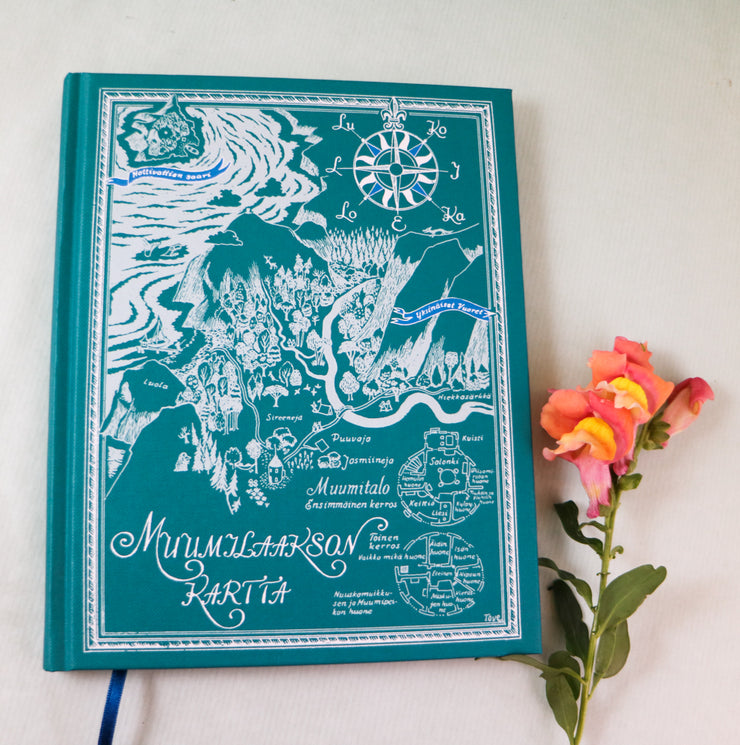 Map of the Moomin valley hard cover notebook
