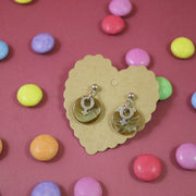 Candy color silver venus earrings