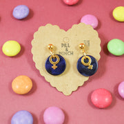 Candy color golden venus earrings