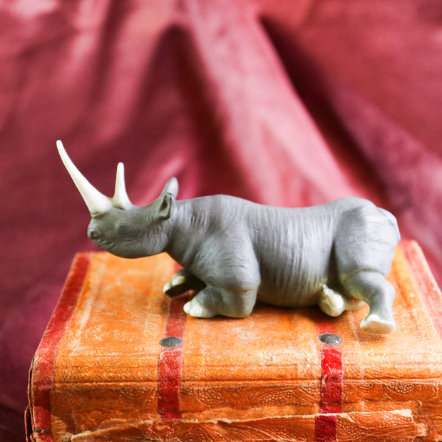 Small black rhino figurine