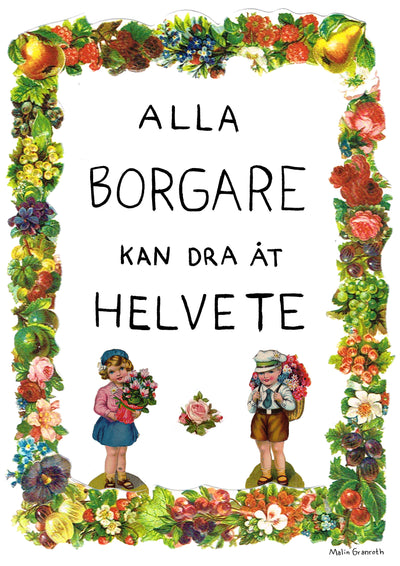Alla borgare A3 print By Malin Granroth