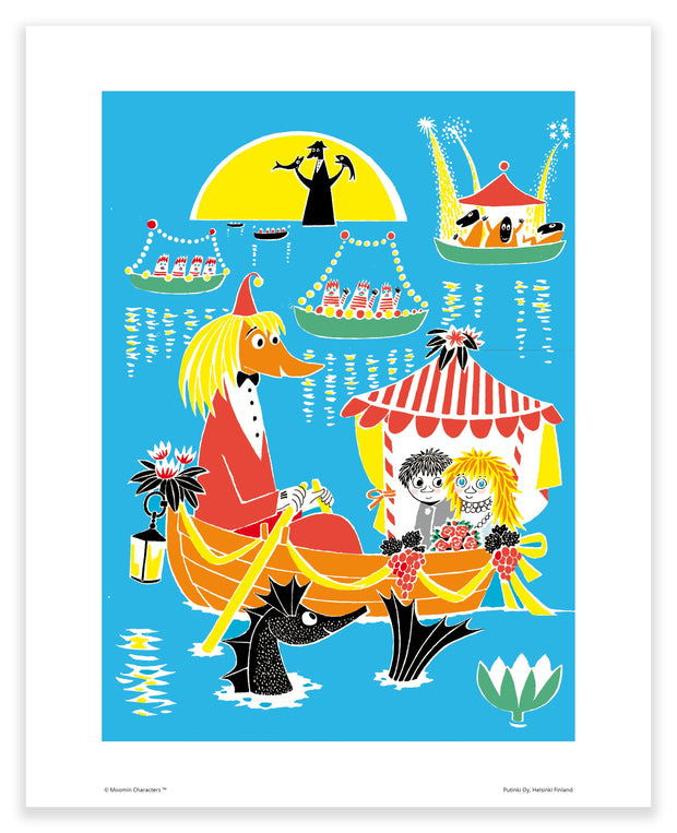 Moomin print love at sea