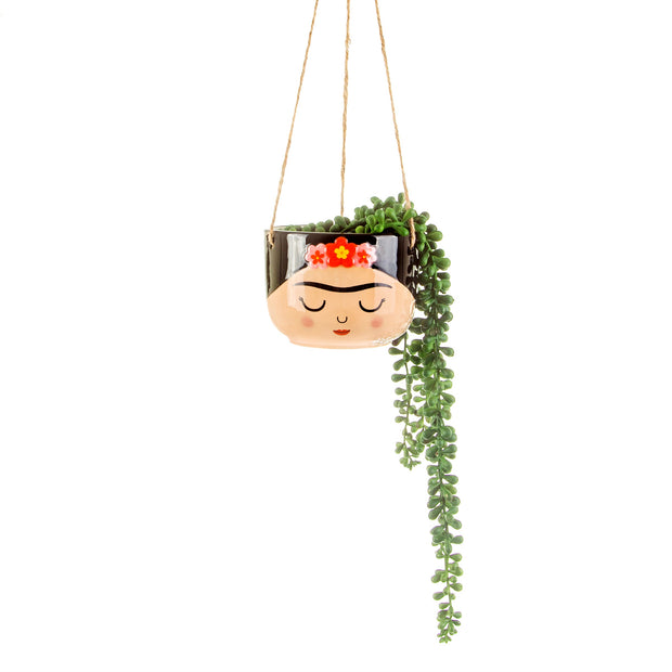 hanging Frida Kahlo planter