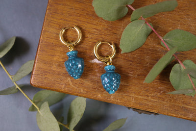 Chunky Teal Pinecone earrings (Limited edition)
