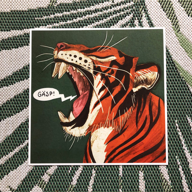 Gäsp limited edition tiger print by Hanna Granlund