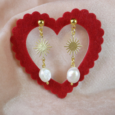 Sun pearl earrings (Limited edition)
