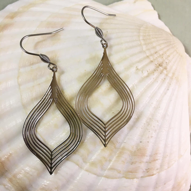 Silver honeypot earrings