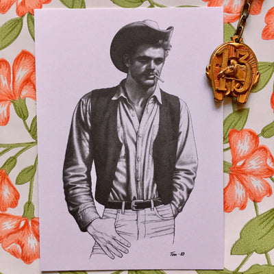 Tom of Finland mini print/card cowboy