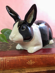 Black & white rabbit money bank