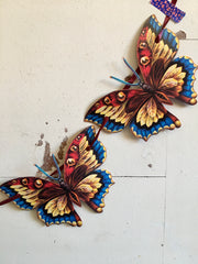 Blue butterfly paper garland