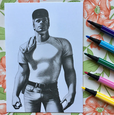 Tom of Finland mini print/card boy next door