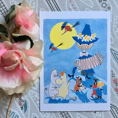 Moomin Witchy easter postcard