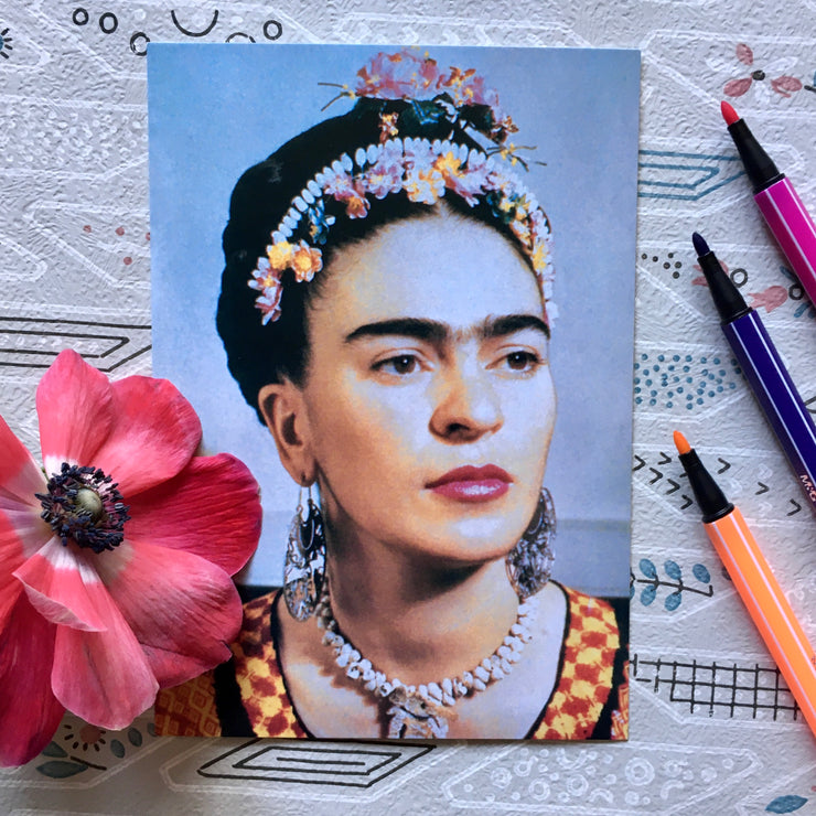 Frida with crown mini print/card