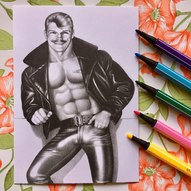 Tom of Finland postcard howdy