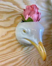 Small seagull wallvase
