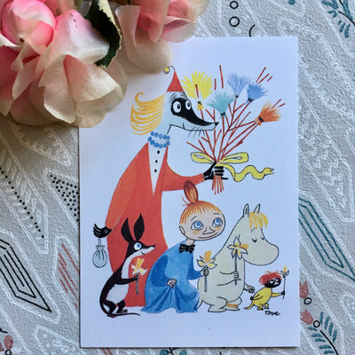 Moomin Birch twig easter postcard/mini print