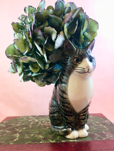 Millie the cat flower vase