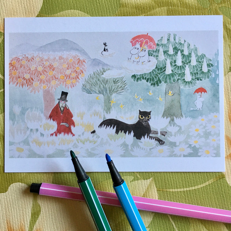 Moomin The Magician's Hat postcard/mini print