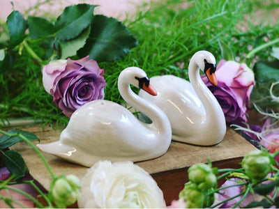 Swan salt and pepper shakers
