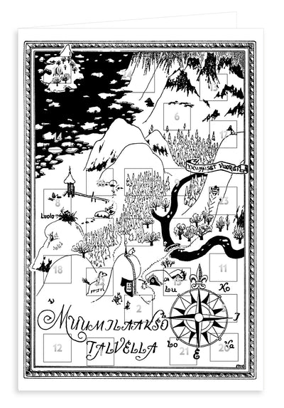 Moomin advent calendar postcard