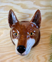 Big fox wallvase