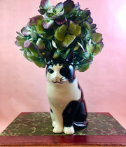 Barney the cat flower vase