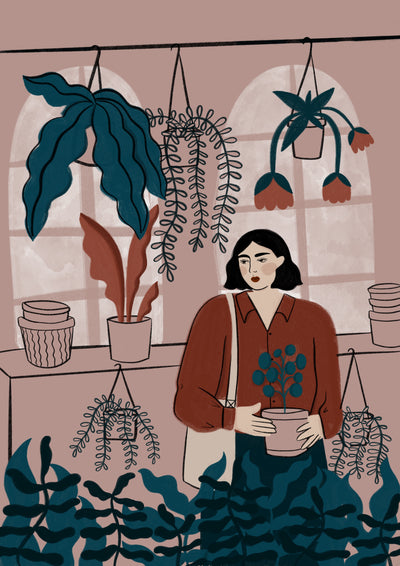 Just one more plant art print by Ida Alvarsson