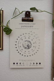 Mini moon Calendar 2021 by Moon revolver
