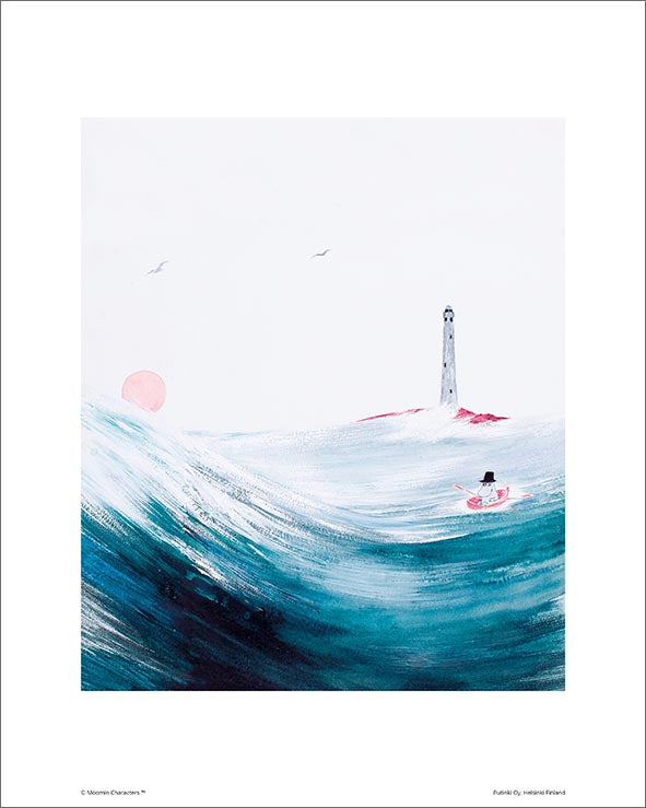 Moomin print Moominpappa at sea