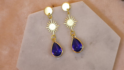Nouveau blue drop earrings (Limited edition)