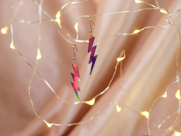 Rainbow flash earrings