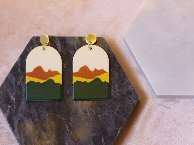70's arch desert sunset earrings