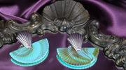 Vibrant art deco fan silver earrings (Limited edition)