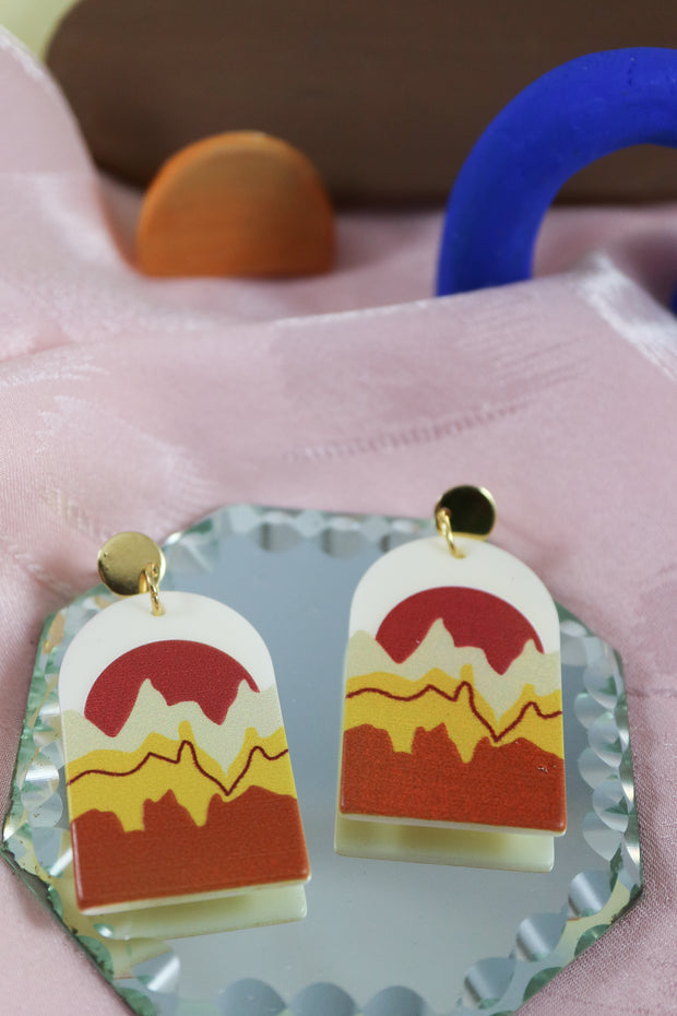 70's arch stranger than fiction earrings