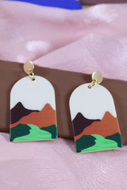 70's arch great views earrings