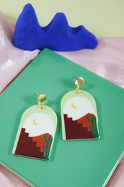 70's arch stairway to heaven earrings
