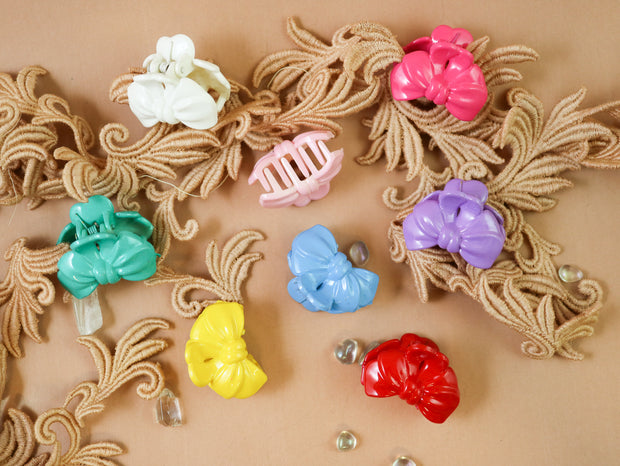 Bow tiny hairclip 10pcs