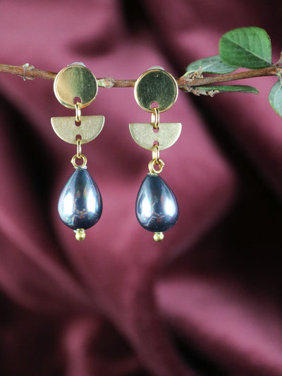 Black pearl Downton Abbey earrings (Limited edition)