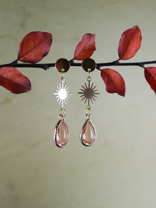 Nouveau pink drop earrings (Limited edition)