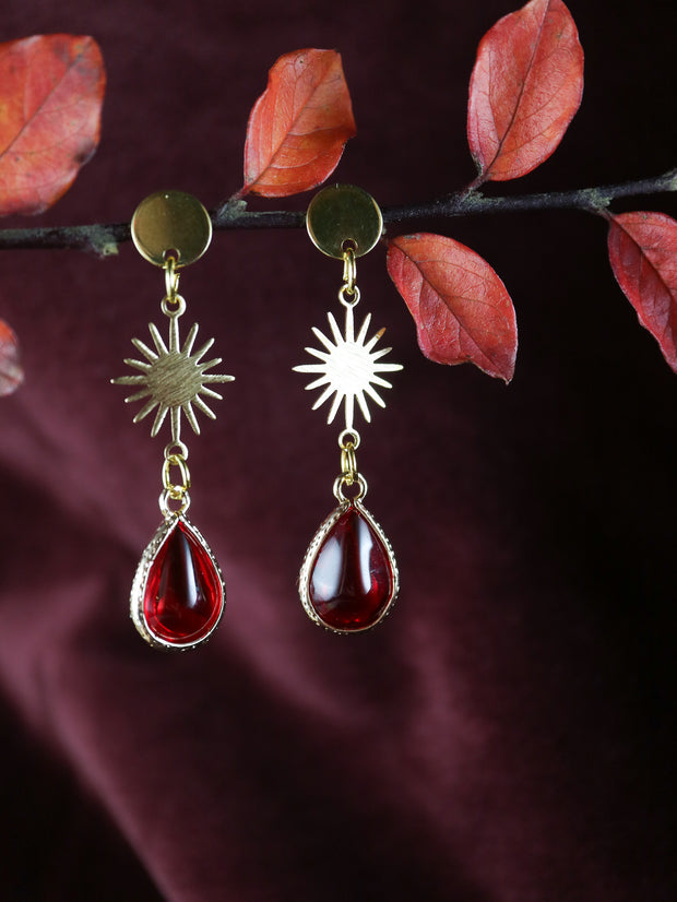 Nouveau red drop earrings (Limited edition)