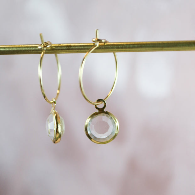 Gleaming and glistering color pop hoop earrings