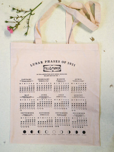 Moon Calendar tote bag 2021 limited edition