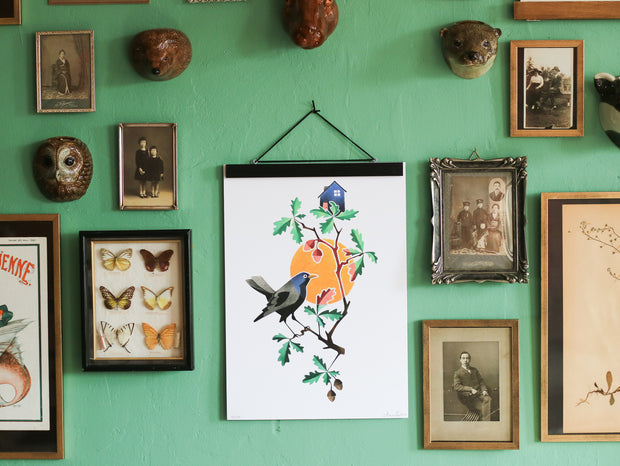 Bird signed and limited art print by Amanda Chanfreau